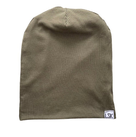 Be Your Own Moss Ribbed Slouchy Beanie