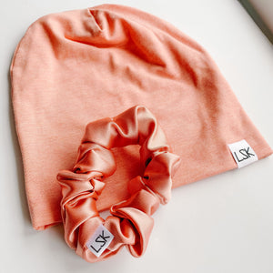 Peach Perfect Bamboo Slouchy Beanie