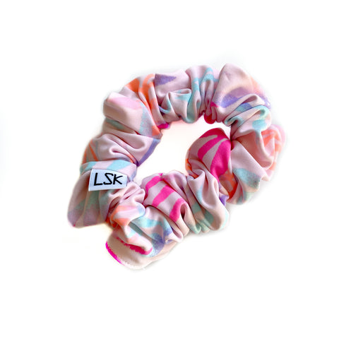 Neon Palm LUXE SWIM Scrunchie