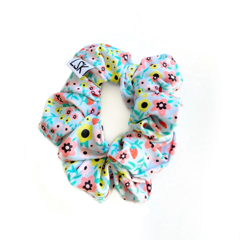 Itty Bitty Floral LUXE SWIM Scrunchie