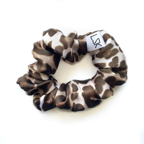 Leopard Satin Scrunchie