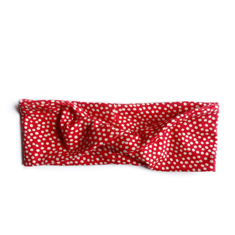 Red Polka Dot Knit Twistband