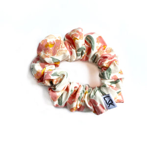 Georgia Peach Floral Scrunchie