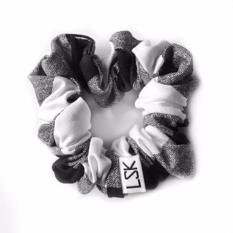 Whiteout Plaid Scrunchie