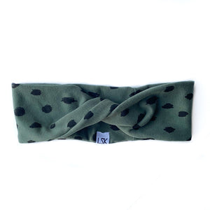 Luxe Olive Doodle Dots Twistband