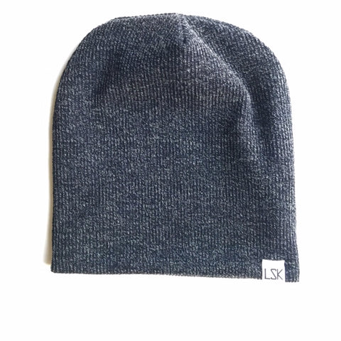 Navy Ash Sweater Adult Slouchy Beanie