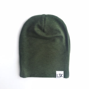 Army Green Bamboo Adult Slouchy Beanie