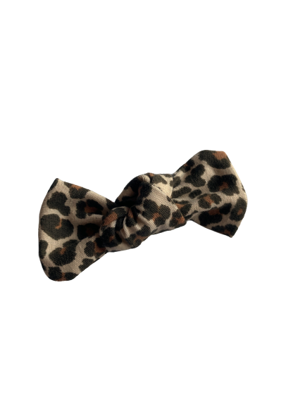Tan Leopard Bow Add On