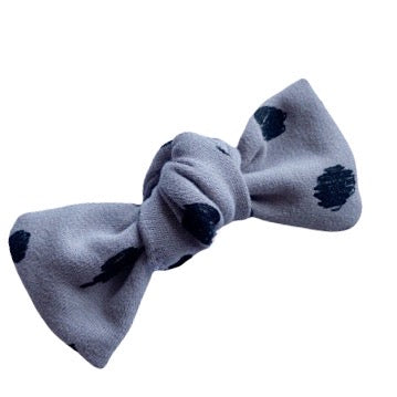Luxe Grey Doodle Dots Bow Add On