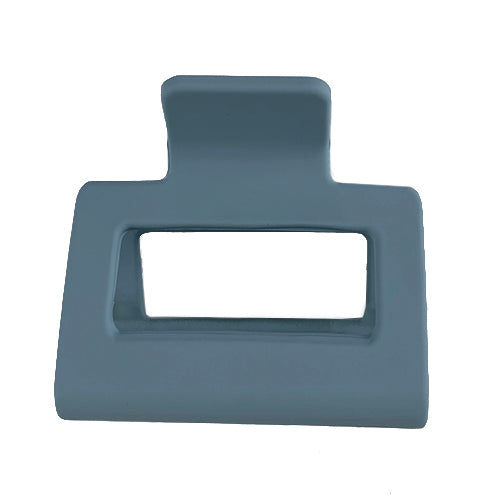 Matte Muted Blue Claw Clip - Small