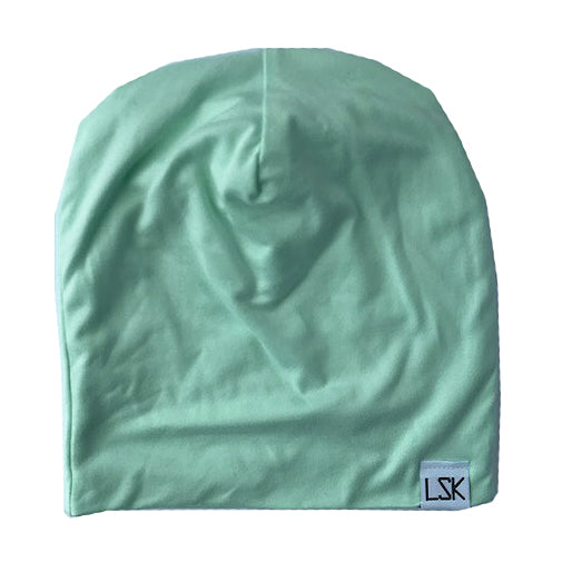 Mint Lightweight Knit Slouchy Beanie