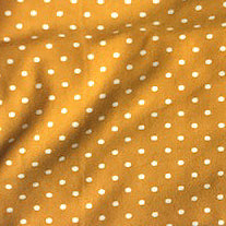Mustard Polka Dot Scrunchie