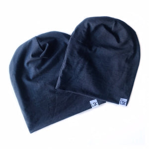 Navy Bamboo Adult Slouchy Beanie