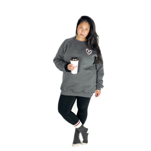 Grey & Pink Tunic #LOVEMORE Love Squared Signature Crewneck.
