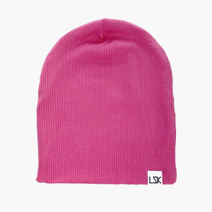 Hot (Pink) Girl Summer Ribbed Slouchy Beanie