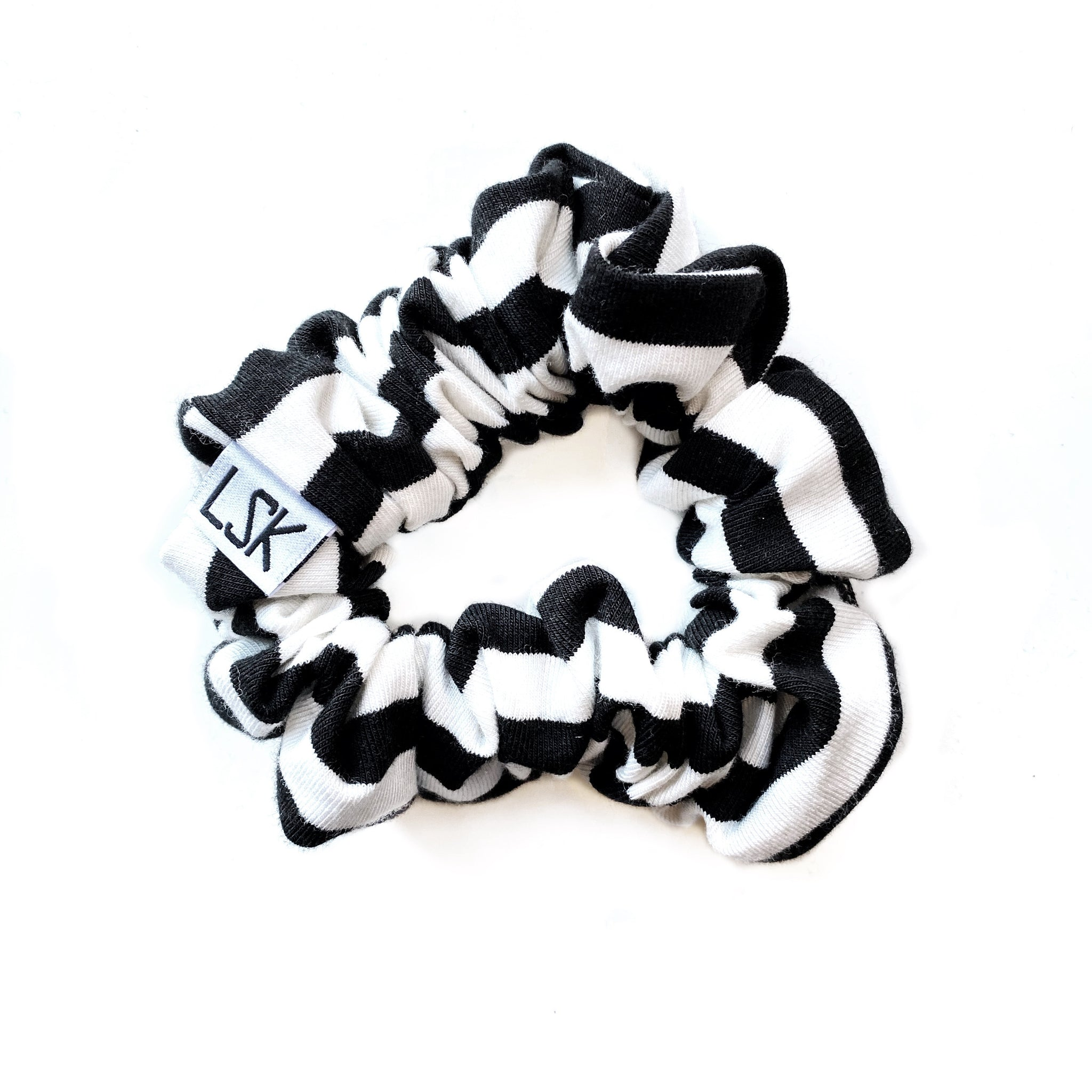 B/W Stripe Scrunchie