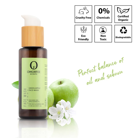 omorfee-green-apple-face-wash-best-face-wash-for-oily-skin