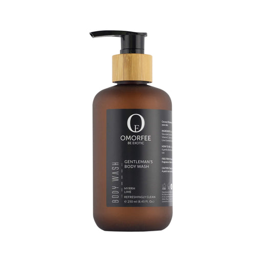 Omorfee Organic and Natural Body wash for men. Body cleanser for daily use lasts long. Best body wash for men. Premium shower gel with Lime for refresh.