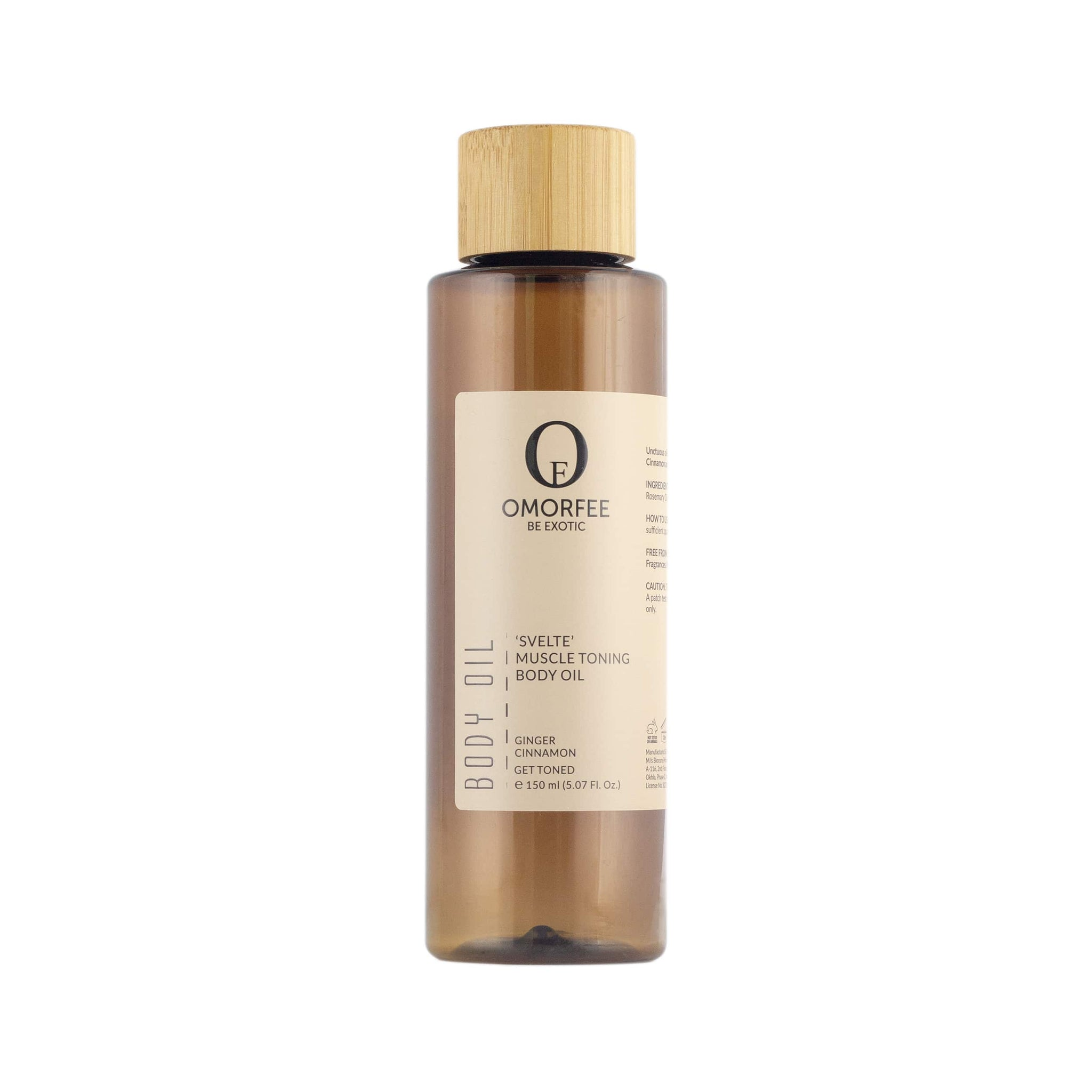 Omorfee Organic and all natural body oil. Omorfee-svelte-muscle-toning-body-massage-oil-front-organic-skincare-products-organic-beauty-products-massage-oil-relaxing.