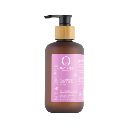 Omorfee organic and natural body wash hair wash for baby newborns. Shampoo and wash for baby.