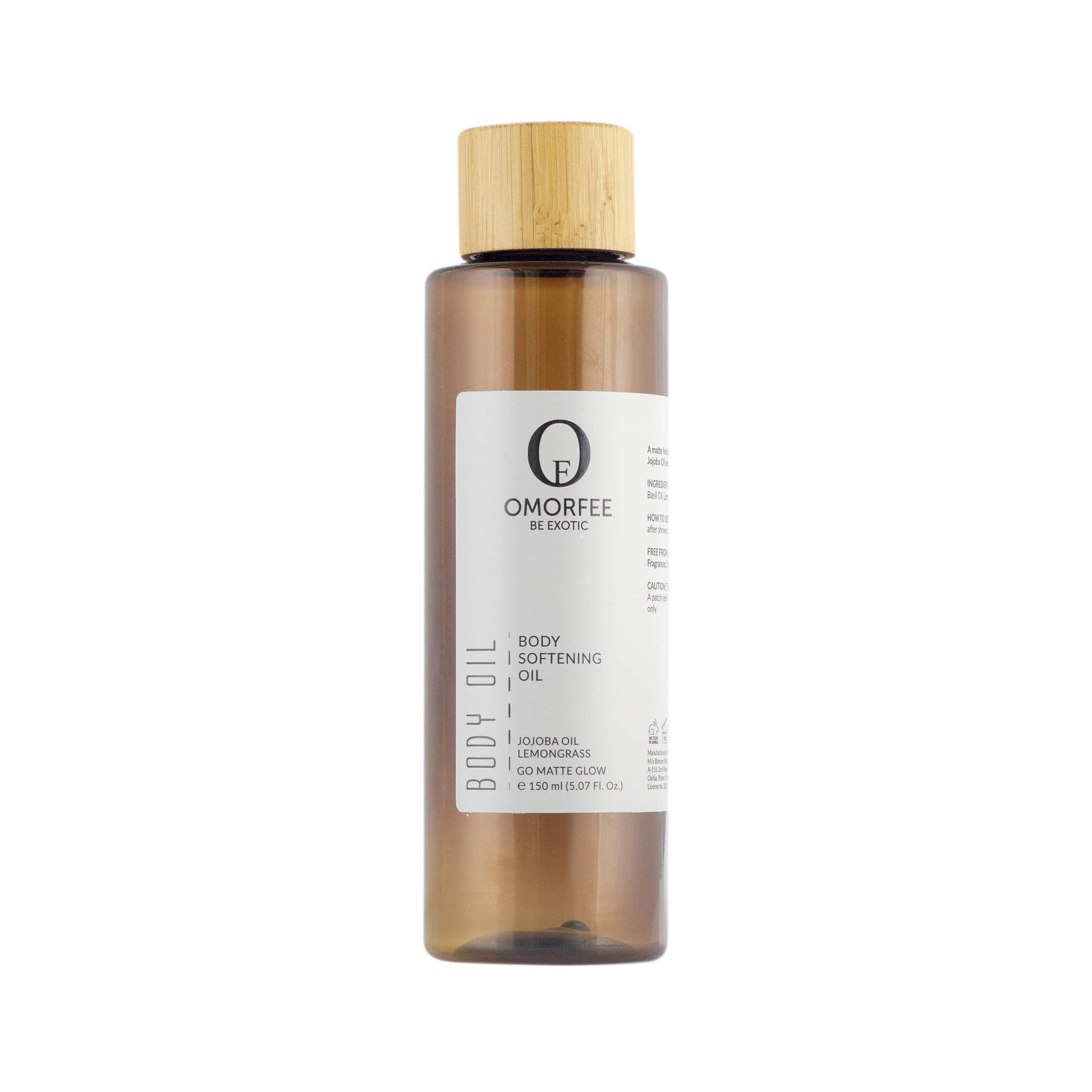 Omorfee Organic and all natural Body oil. omorfee-body-softening-oil-front-organic-skincare-products-organic-beauty-products-after-bath-body-oil-for-dry-skin