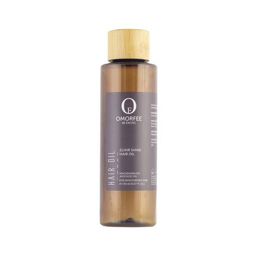 Elixir Shine 100% Organic and all natural hair oil for dry scalp and itchiness on scalp. With Macadamia and avocado oil for hair shine and moisture.