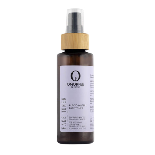 Omorfee organic and natural face toner for dry and sensitive skin. All day freshness and refresh face cucumber and camomile water.