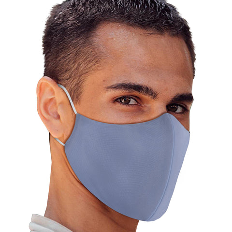 Solid Baby Blue Face Mask