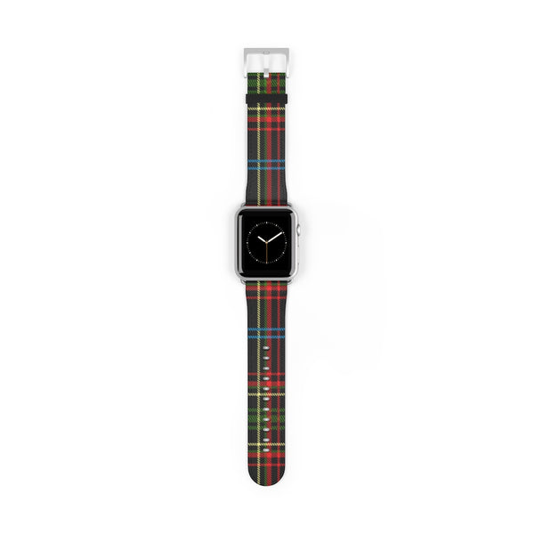 Scott Plaid Leather Pattern Apple Watch Band 38mm and 42mm