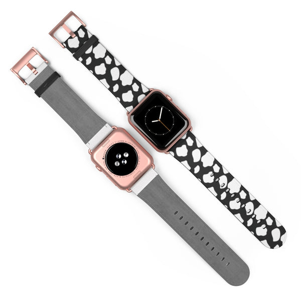 Cow Pattern Leather Apple Watch Band 38mm and 42mm