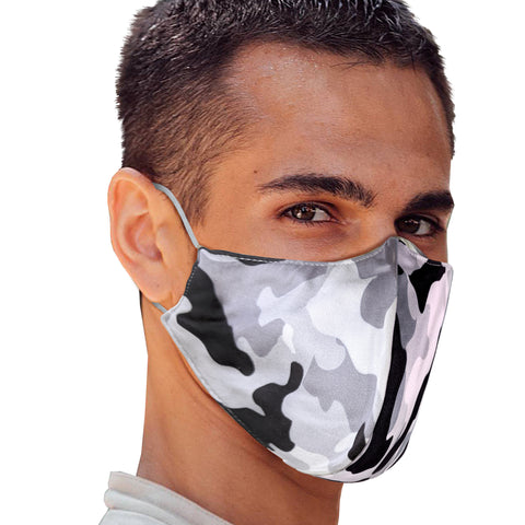 Grey Camo Face Mask