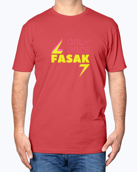 Fasak Only Once - Men's T-Shirt - By Dosa