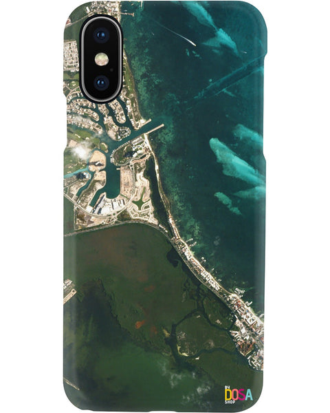 Tip of the Yucatán Peninsula, Puerto Cancún - Phone Case (IPhone and Samsung) - By Dosa