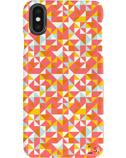 Shades Of Orange On Diamonds - Phone Case (IPhone and Samsung) - By Dosa