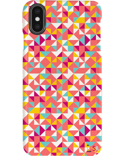 Triangles Pattern In Brand Colors - Phone Case (IPhone and Samsung) - By Dosa