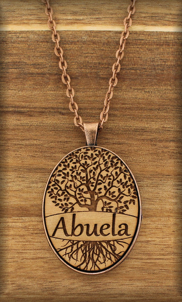 Abuela - TREE OF LIFE - Wood Art Designer Necklace