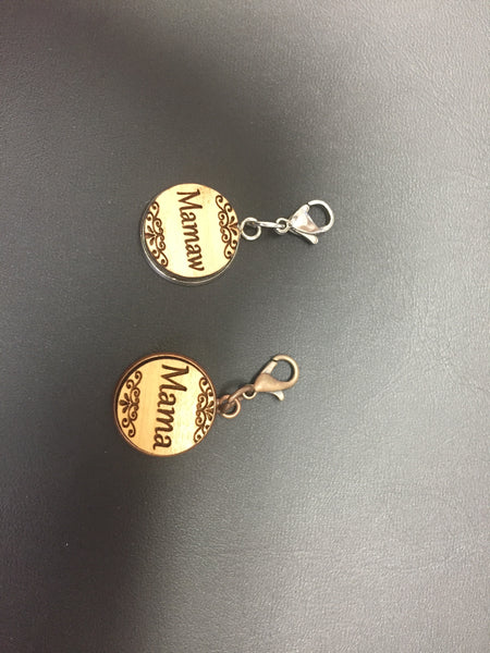 12MM Kid's name charm in wood