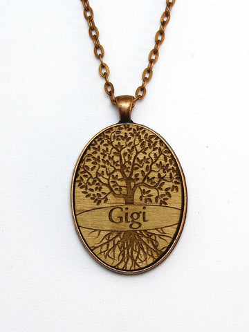 Gigi - TREE OF LIFE - Wood Art Designer Necklace