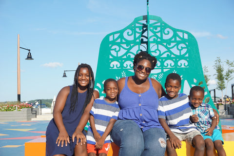 Speech-Language Pathologist Alexis Bolivar and her 3 kids