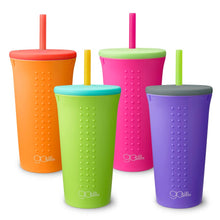 Load image into Gallery viewer, Silicone Straw Cup (16 oz.) by GoSili