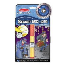 Load image into Gallery viewer, Secret Decoder Game Book On the Go by Melissa & Doug