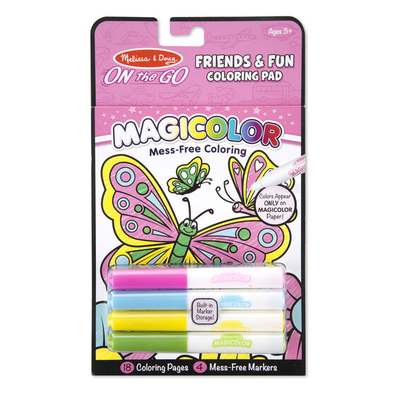 Friends & Fun Coloring Pad On the Go by Melissa & Doug