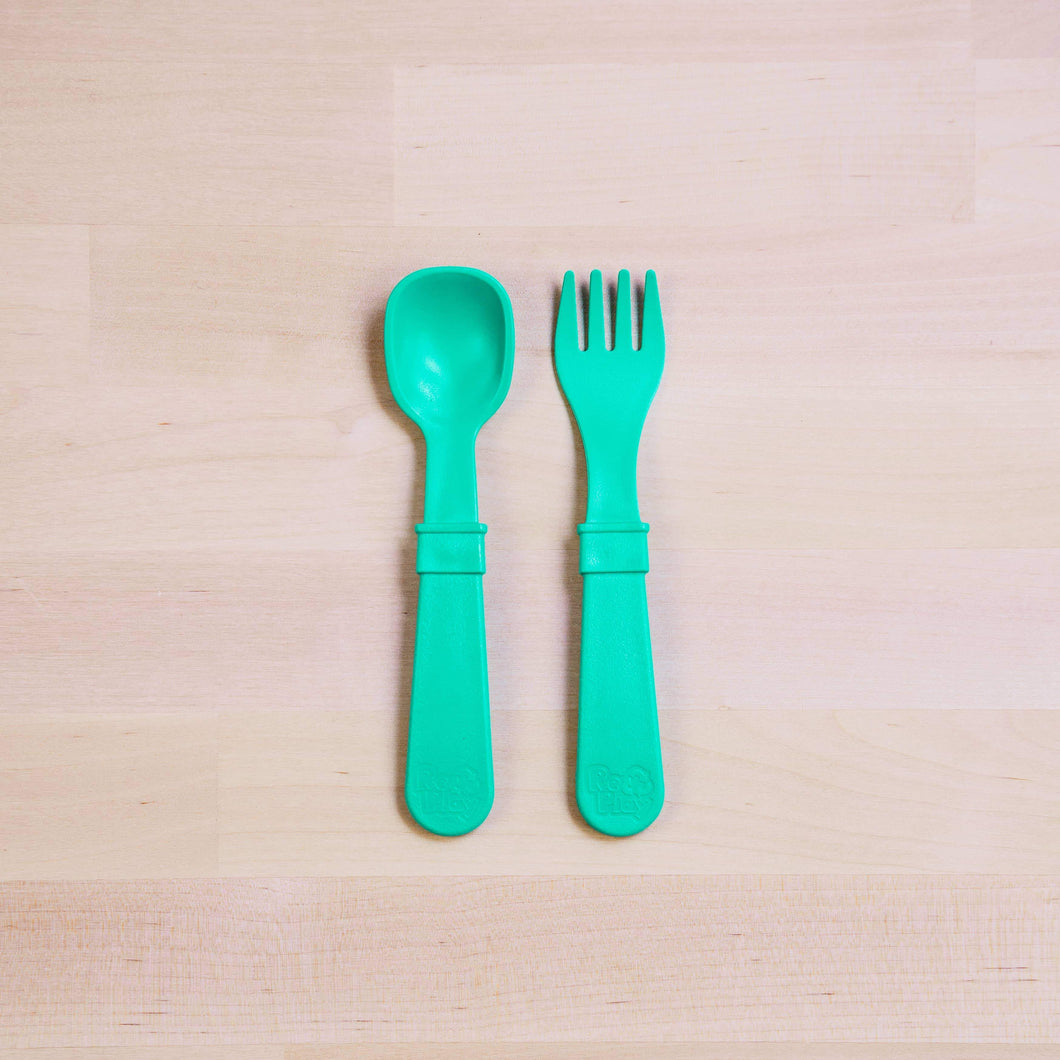 Toddler Utensil Pair - Multiple Colors - by Re-Play