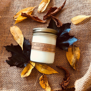 Autumn Day 8 oz Candle Jar by Rural Farm Co.