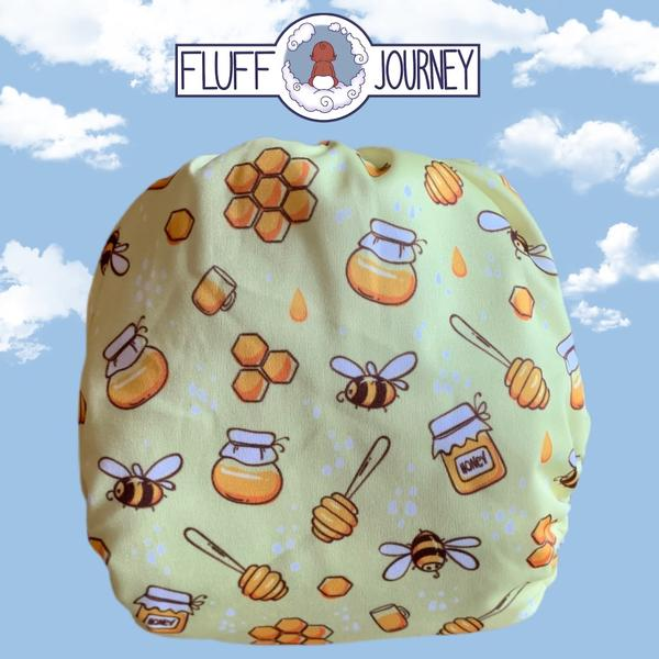 Busy Bees Diaper by Fluff Journey