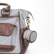 Handsome Gray Diaper Bag Charm Pod by Itzy Ritzy