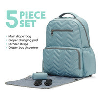 Chevron Tote Diaper Bag by Soho Collections