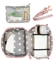 Load image into Gallery viewer, Diaper Clutch in Blush by TWELVElittle