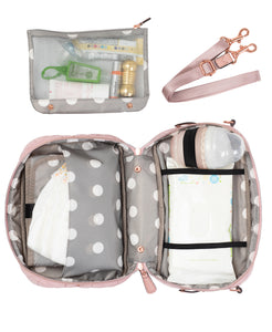 Diaper Clutch in Blush by TWELVElittle