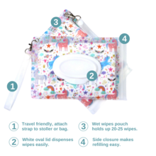 Load image into Gallery viewer, Fantasy Wet Wipes Pouch by Orchid Hearts
